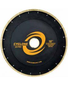 "CYCLONE ULTRA BRIDGE SAW BLADE PORCELAIN/UCS 16"" 50/60 ARBOR"