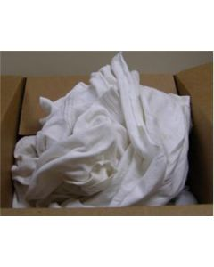 Recycled White T-Shirt Material Rags