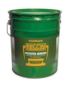 Recon Transparent Flowing Polyester Adhesive, 5 Gallons