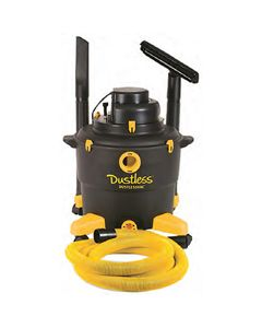 Dustless Technologies D1603 Wet/Dry Dustless Vacuum, 11.5 Amp