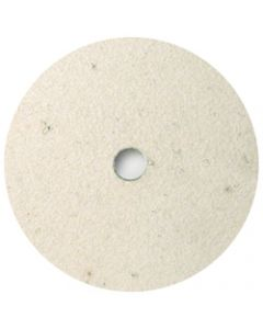 "3"" AT Compressed Felt Buffing Pad, QRS Backing"