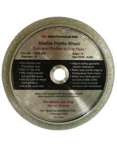"ALPHA MARBLE PROFILE WHEEL 6"", 5/8"""