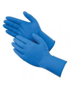 BioSkin Powder-Free Blue Latex Gloves, XLarge, 50/Box