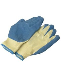KNIT GLOVES WITH RUBBER PALM, LARGE, 1 PAIR