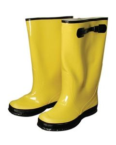 "OVER-THE-SHOE 17"" BOOTS, SIZE 8, YELLOW"