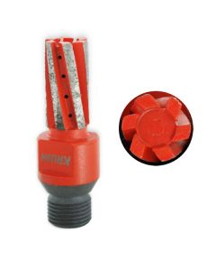Rival Hi-Speed CNC Fingerbit 6 Seg 20x40mm 1/2 Gas