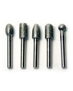 "KS24-09059C BURR SET 5 PC. DIAMOND 1/4"" SHANK 50 GRIT"