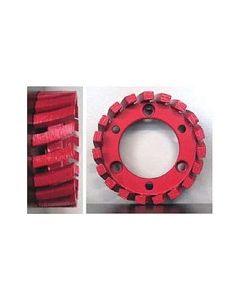 STUBBING WHEEL, 50mm ARBOR, 91x30x7, MED/SOFT BOND, RED