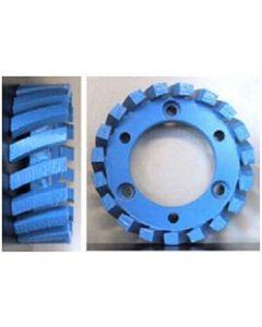 STUBBING WHEEL, 50mm ARBOR, 91x30x7, MED/HARD BOND, BLUE