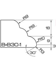ADI UHS Profile BB30-1 3cm 120 Series CNC Profile Wheels R=9mm