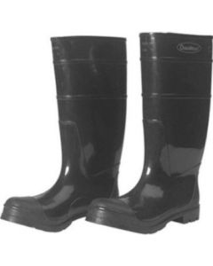 Black Steel Toe Rubber Boots, Size 6