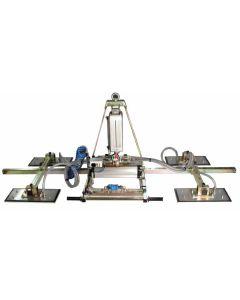 MANZELLI VACUUM LIFTER, 500 KG, 4 PLATE MULTI-POSITION AIR/POWER TILT