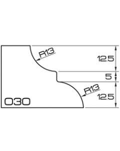 ADI UHS Profile O 3cm 120 Series CNC Profile Wheels