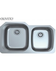 Oliveto Stainless Steel Sink 16 Ga 60/40