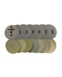 Sorma 7-Step I-Dia Dry Polishing Pads