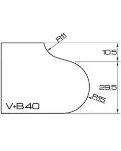 ADI UHS Profile VB 4cm 120 Series CNC Profile Wheels